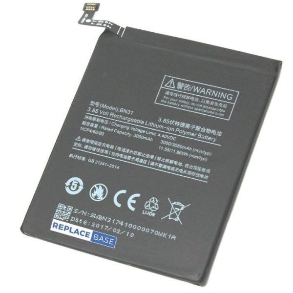 قیمت | خرید باتری ( باطری ) اصلی گوشی شیائومی ردمی نوت 5 آ - Xiaomi Redmi Note 5A مدل BN31