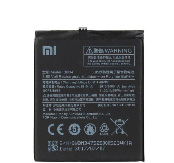 قیمت | خرید باتری ( باطری ) اصلی گوشی شیائومی ردمی 5 ای - Xiaomi Redmi 5A مدل BN34