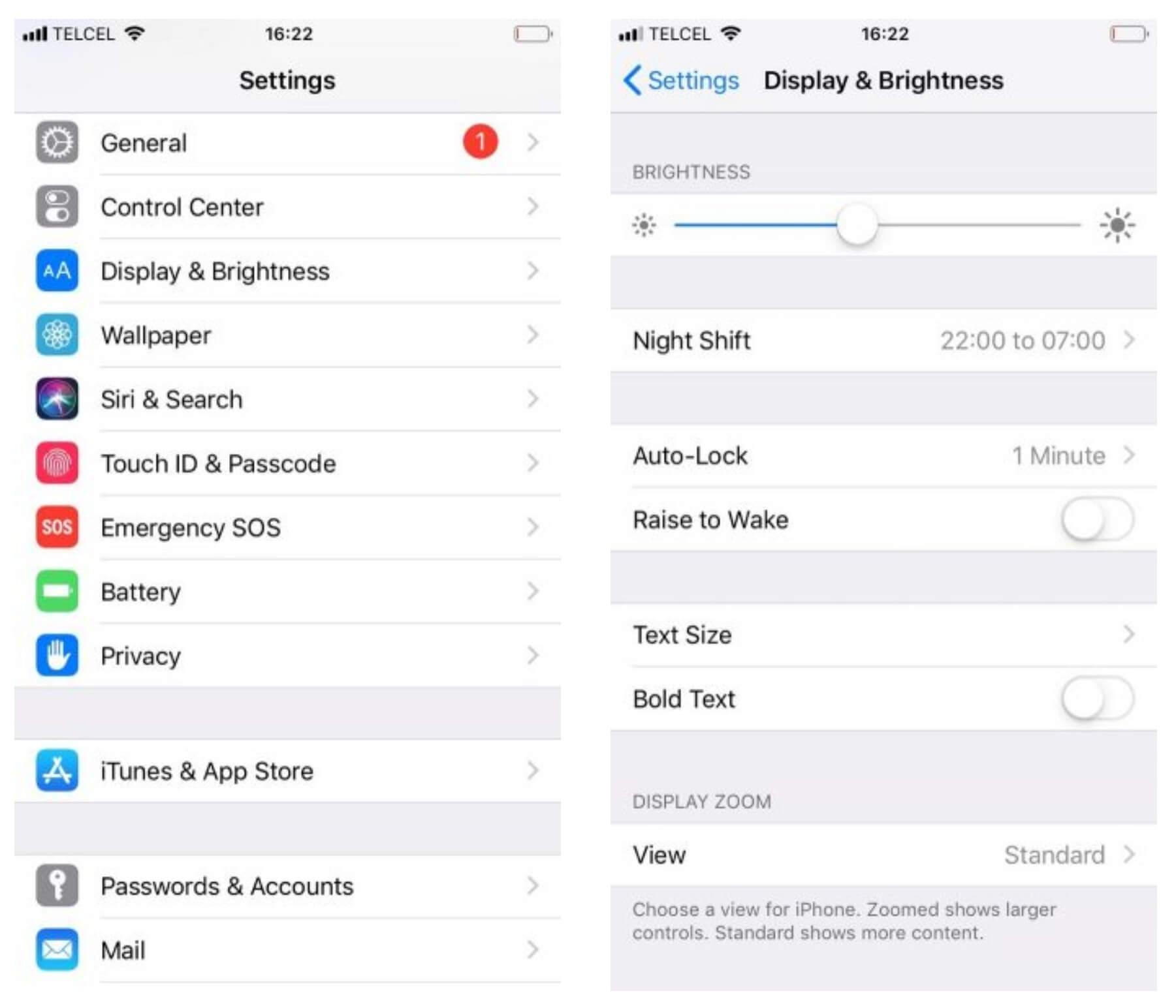 کاهش نور صفحه نمایش برای کالیبره کردن باتری اپل