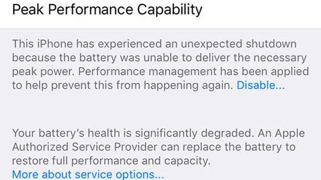 پیغام های بررسی درصد سلامت باتری موبایل
