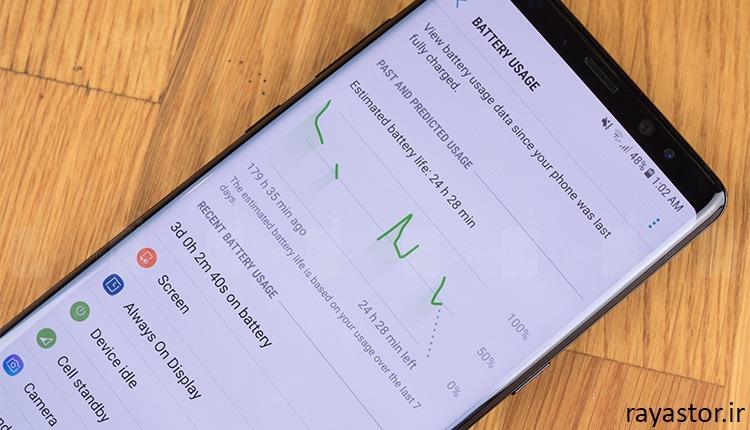 مدت زمان شارژ Galaxy Note 8