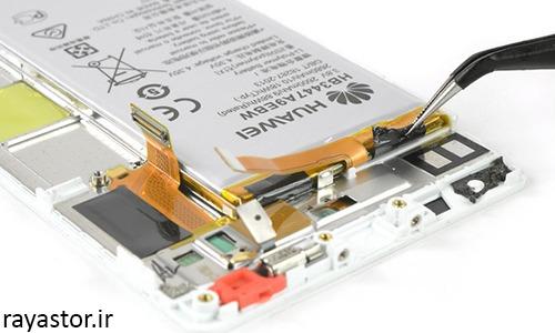 مرحله هشت تعویض باتری هواوی