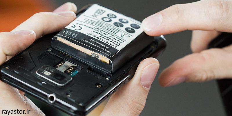 باد کردن باتری موبایل