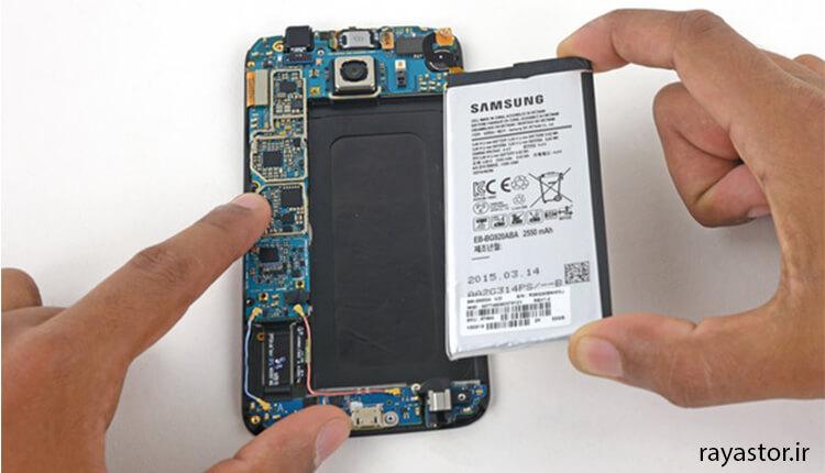 تعویض باتری گوشی سامسونگ Galaxy S6