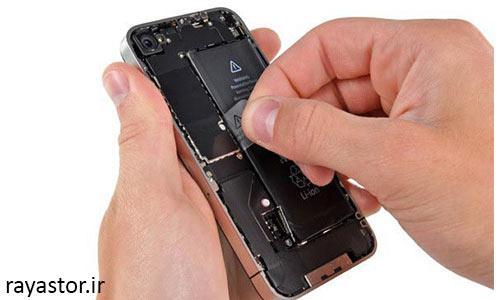 تعویض باتری آیفون 4 مرحله 6