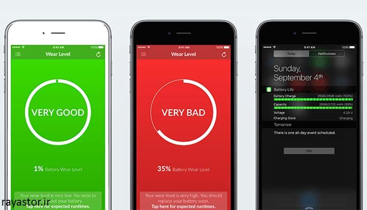 تست سلامت باتری ایفون به کمک نرم افزارهای مختلف