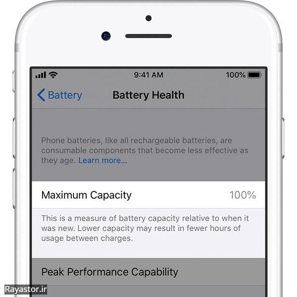 بهبود سلامتی باتری آیفون 6 اس