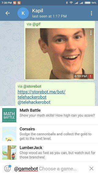 بهترین ربات های تلگرام : ربات Gamebot