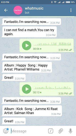 بهترین ربات تلگرام : ربات whatmusicbot
