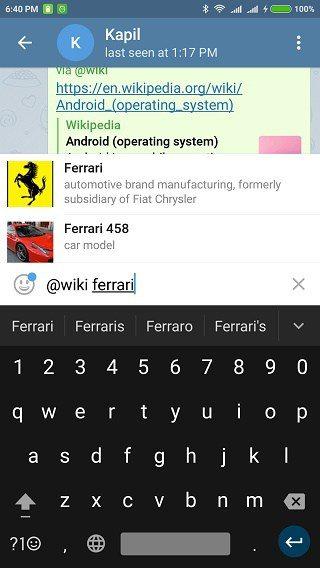 بهترین ربات تلگرام : ربات Wiki@
