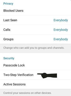 هک تلگرام | تایید دو مرحله ای تلگرام