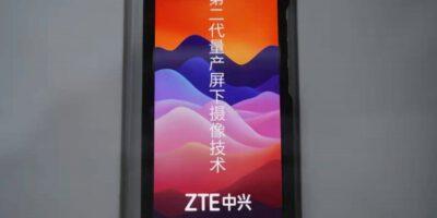 ZTE دوربین زیر نمایشگر نسل دوم خود را بازبینی می کند