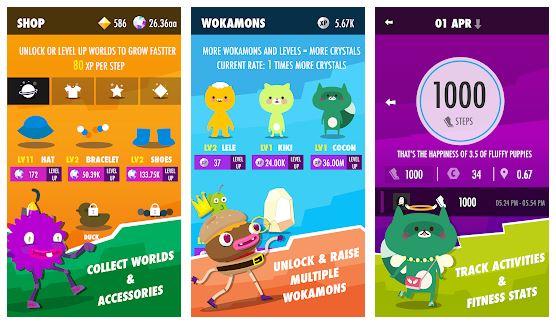 بهترین اپلیکیشن بازی بدنسازی اندروید : Wokamon