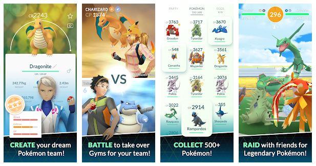بهترین اپلیکیشن بازی بدنسازی اندروید : Pokemon Go