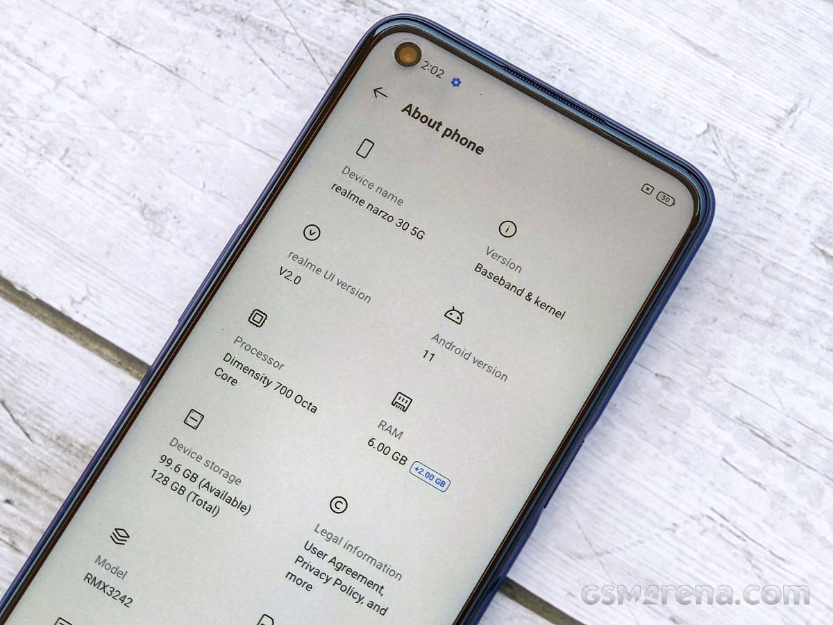 بررسی بازده و عملکرد گوشی ریلمی نارزو 30 نسخه 5G