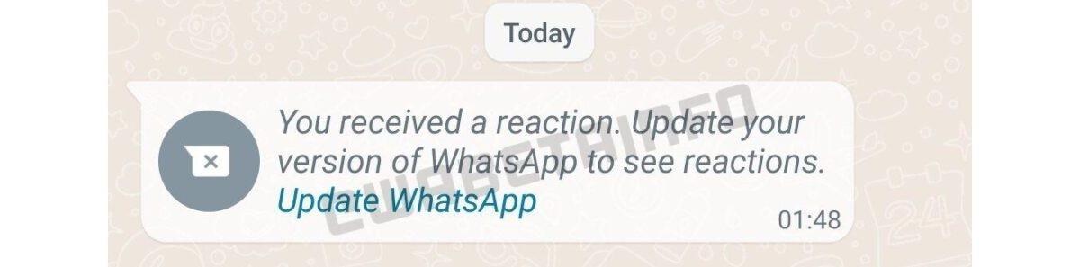 پاسخ آماده (واکنش های پیام) در واتساپ در راه است