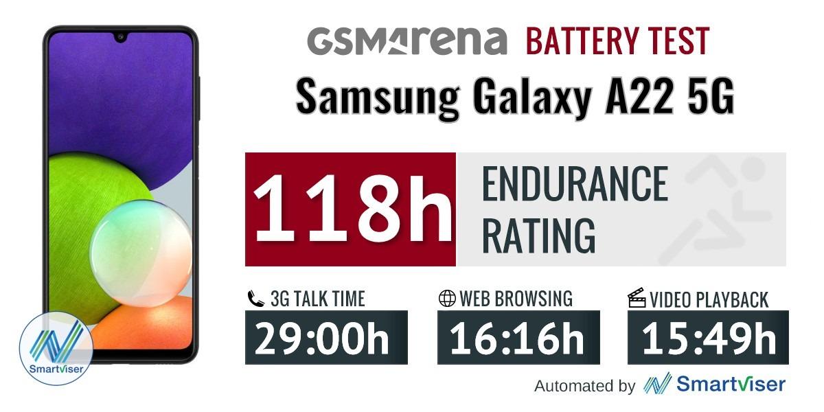 بررسی باتری گوشی سامسونگ گلکسی A22 5G