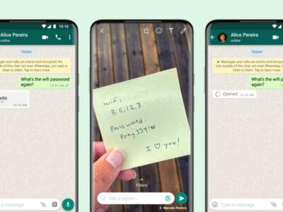 نحوه ارسال عکس و فیلم یکبار مصرف در واتساپ (یکبار قابل مشاهده)