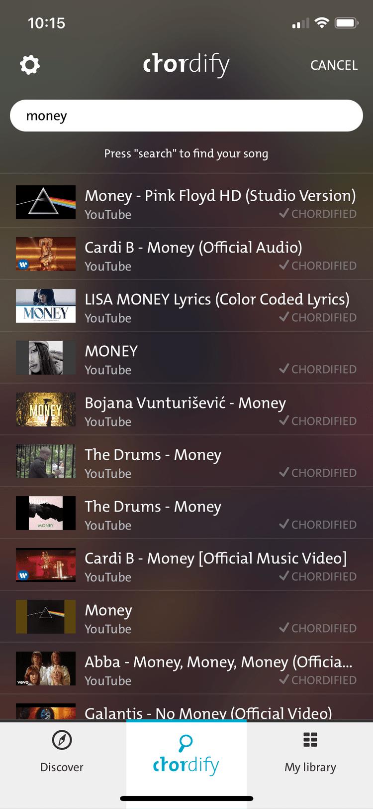 بهترین برنامه نوازندگی اپل : Chordify