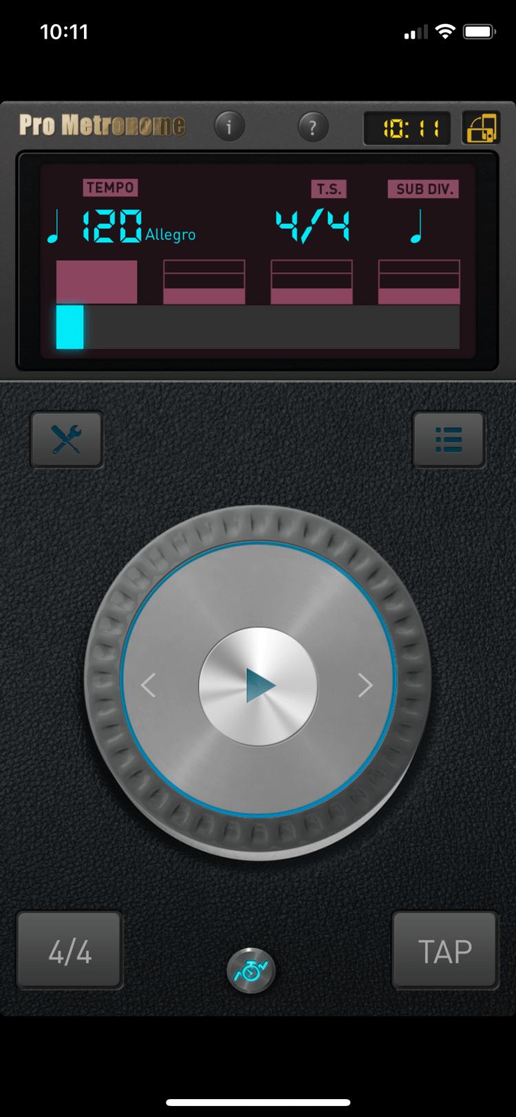 بهترین برنامه نوازندگی اپل : Pro Metronome