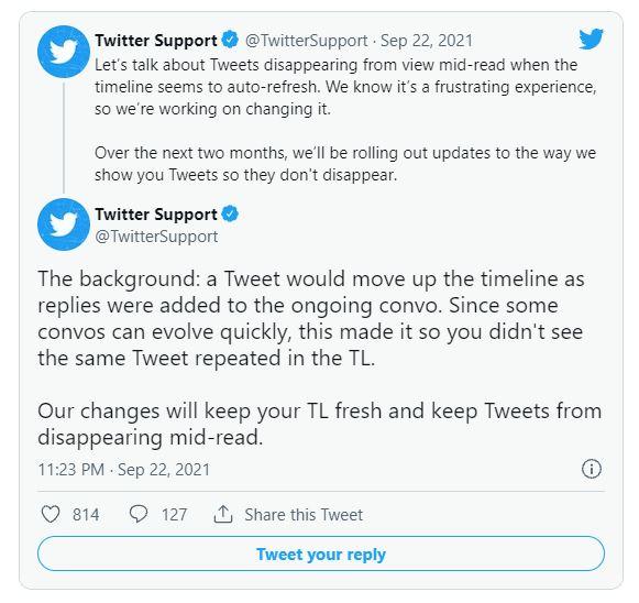 مشکل ناپدید شدن توییتها در توییتر
