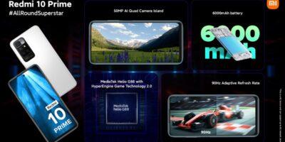 ردمی 10 پرایم با تراشه هلیو جی 88 و باتری 6000 میلی آمپری معرفی شد