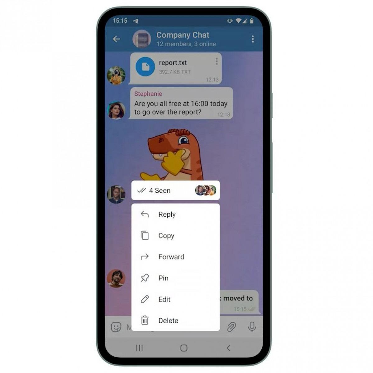 با بهروزرسانی تلگرام ، تمهای چت ، ایموجی تعاملی و رسیدهای خواندن به صورت گروهی اضافه می شوند