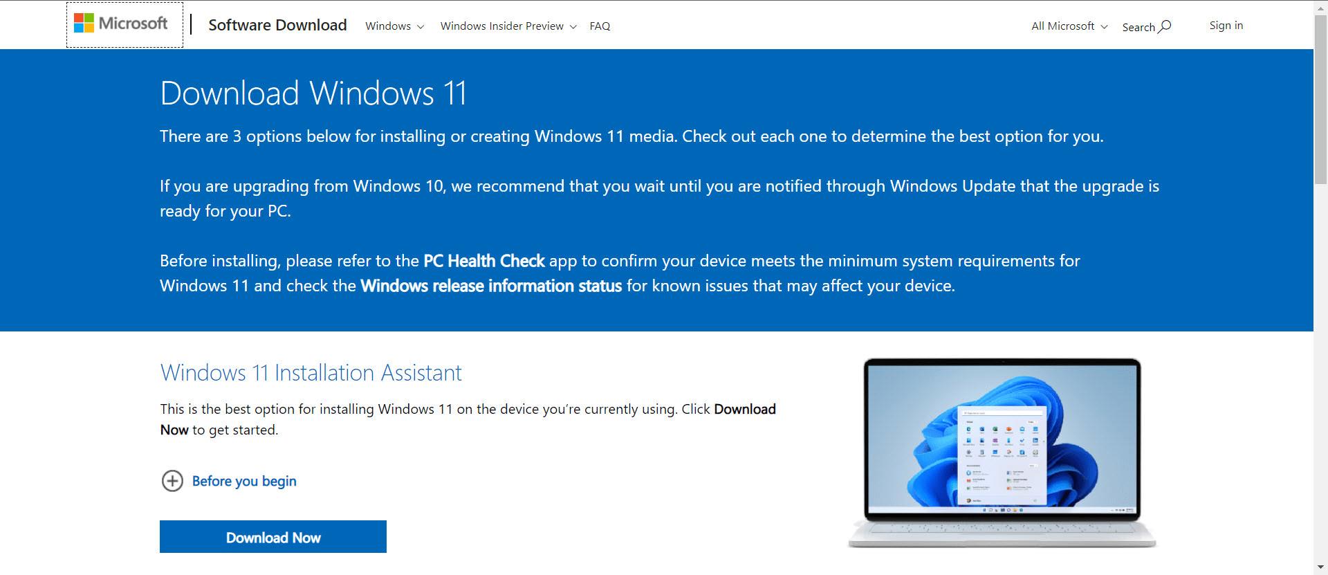 دانلود نرم افزار Windows 11 installation guide
